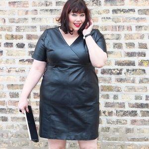 Genuine Leather Plus Size Dress